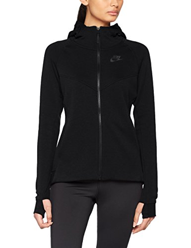 Nike Womens Tech Fleece Full Zip Hoodie Black/Black