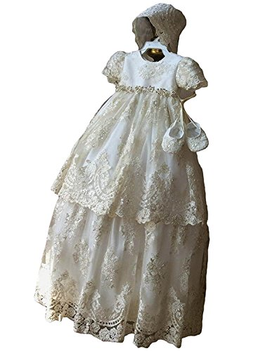 Newdeve Long Baptism Dresses for Baby Girls Christening Gowns Toddler