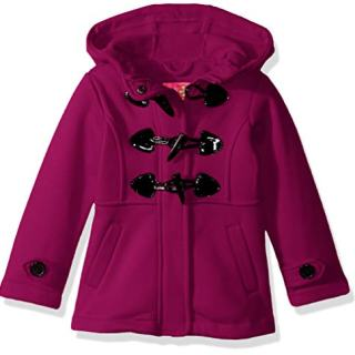 Pink Platinum Baby Girls Fleece Toggle Jacket, Berry, 18M