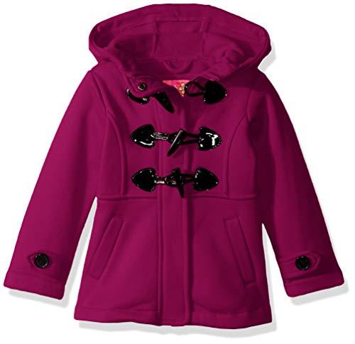 Pink Platinum Baby Girls Fleece Toggle Jacket, Berry, 18M