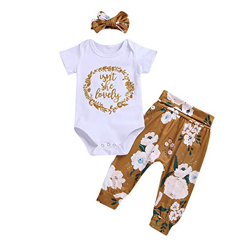 Newborn Infant Baby Girl Outfits Isn't She Lovely Romper Top