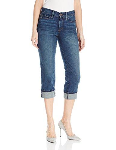 NYDJ Women's Dayla Wide Cuff Capri Jeans, Oak Hill