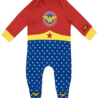 Wonder Woman Baby Girls' DC Comics Footies Size 0-3M