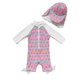 Baby Girl Toddler One-Piece UPF 50+ Sun Protection Swimsuit