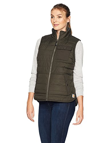 Carhartt Women's Amoret Sherpa Lined Vest, peat, Small