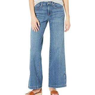 NYDJ Women's Petite Wide Leg Trouser Jeans