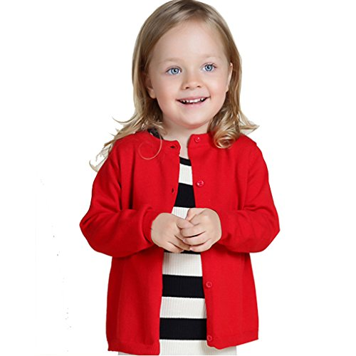 Wennikids Baby Girls' Little Knit Cardigan Button Sweater