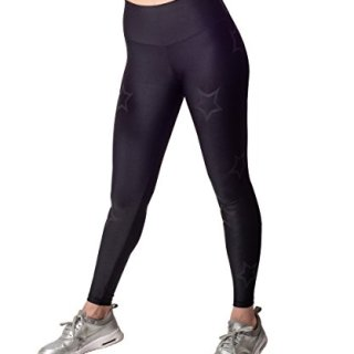 Activefit Outline Stars Stretch High Waisted Workout Yoga Pants