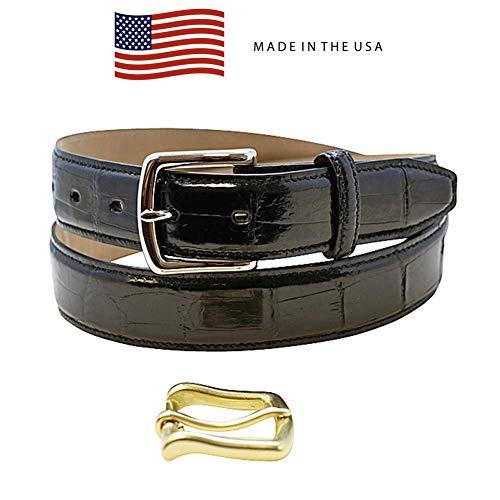 Size 44 Black Genuine Alligator Belt - American Factory Direct