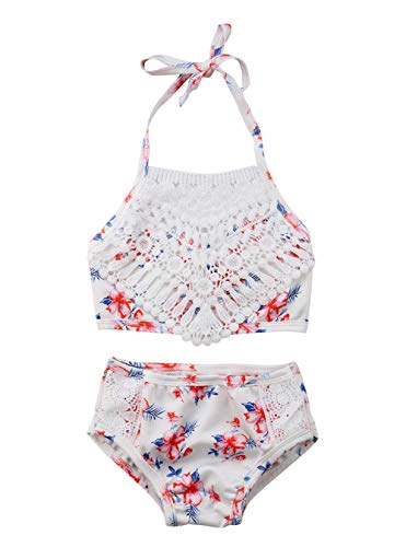 Toddler Baby Girl Swimsuit Floral Lace Sling Bikini Shell