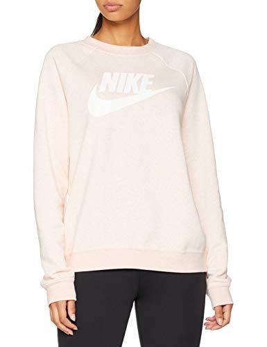 Nike Womens Rally HBR Crew Neck Sweatshirt Storm Pink Heather