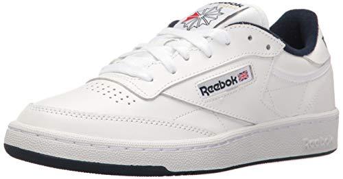 Reebok Men's Club Walking Shoe, White/Navy