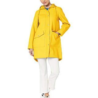 Levi's Women's Hooded Rubberized Faux Leather Anorak Jacket