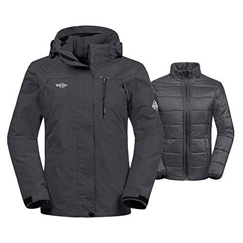 Wantdo Women's Thick 3-in-1 Ski Jacket Interchange Raincoat