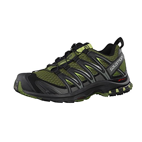 Salomon Mens Xa Pro 3D Trail Sneaker,Chive/Black