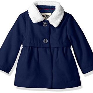 Osh Kosh Baby Girls Sweet Faux Wool Jacket Dress Coat