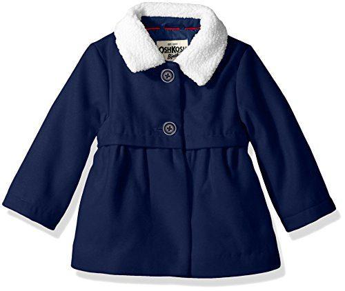 Osh Kosh Baby Girls Sweet Faux Wool Jacket Dress Coat