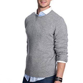 State Cashmere Men's 100% Pure Cashmere Long Sleeve