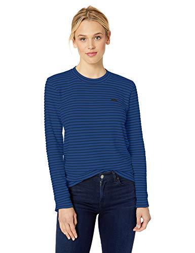 Lacoste Women's Long Sleeve Crewneck Interlock Cotton Sweatshirt