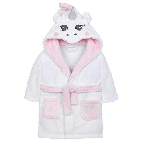 Babies White Unicorn Robe/Dressing Gown (6-12 Months)