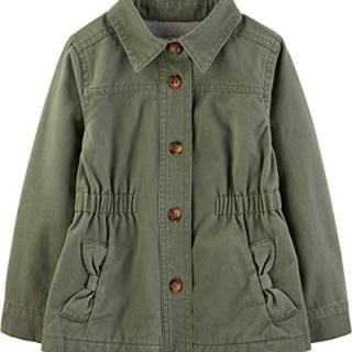 Simple Joys by Carter's Girls' Twill Button up Jacket