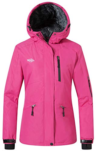 Wantdo Women's Winter Ski Jacket Hooded Mountain