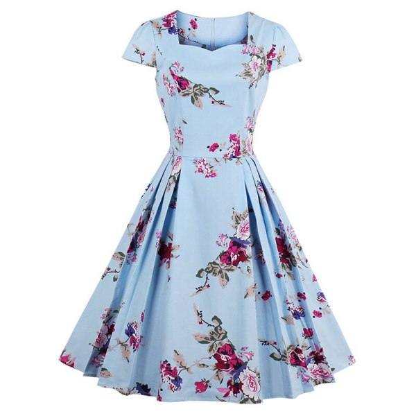 Sisjuly Women Summer Floral Dress Print Expansion Dresses