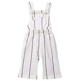 Qiylii Toddler Kids Baby Girls Sleeveless Striped Romper Jumpsuit