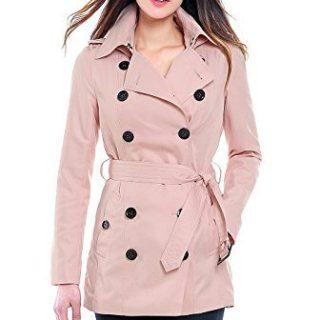 BGSD Women's Tori Waterproof Classic Hooded Short Trench Coat