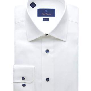 David Donahue Trim Fit Micro Textured Dress Shirt