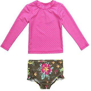 ALove Baby Girls Rash Guard Long Sleeve Swimsuit