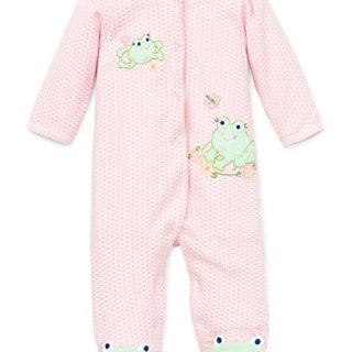 Little Me Frog Friends Footie, Pink, 3 Month