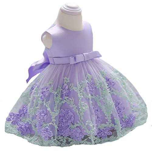 Vicokity Newborn Toddler Baby Girls Dress Tulle Wedding Flower Girl Dress