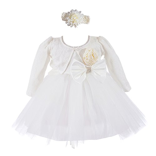 Xopzsiay Newborn Baby Girls Christening Gown Shiny Collar