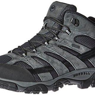 Merrell Men's Moab 2 Mid Waterproof Hiking Boot, Granite