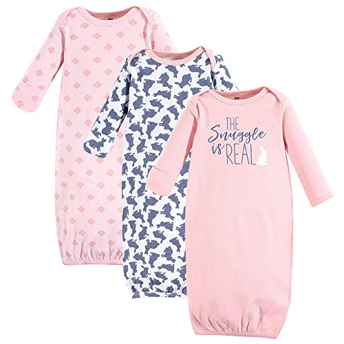 Yoga Sprout Baby Cotton Gowns, Snuggle Bunny, Preemie