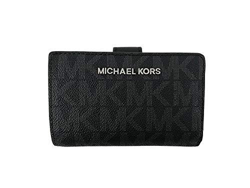 Michael Kors Jet Set Travel Signature PVC Bifold Zip Coin Wallet