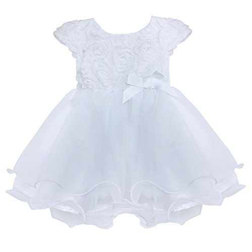 Freebily Infant Baby Flower Girl Dress Baptism Christening Wedding Party Dress
