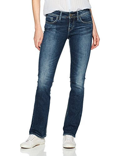 Silver Jeans Co. Women's Elyse Relaxed Fit Mid Rise Slim Bootcut Jeans