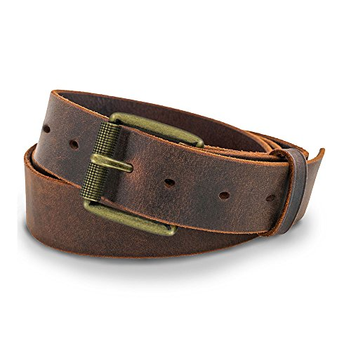 Hanks Casual Jean Belt - Crazy Horse Leather-Brass Buckle