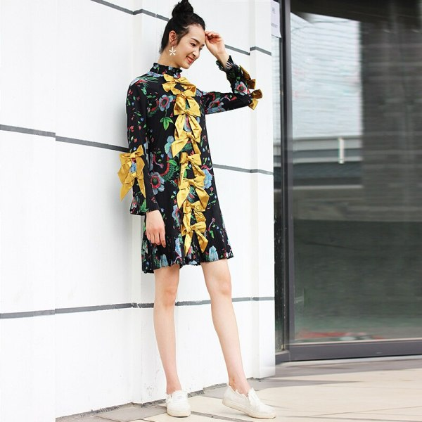S-XXXL High Quality 18 New Summer Fashion Silk Printing
