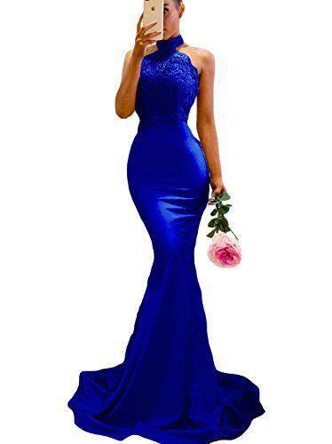 SDRESS Women's Lace Appliques Illusion Long Mermaid Skirt
