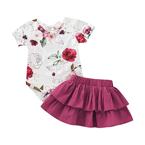 Newborn Baby Girls Clothing Set Short Sleeve Floral Romper