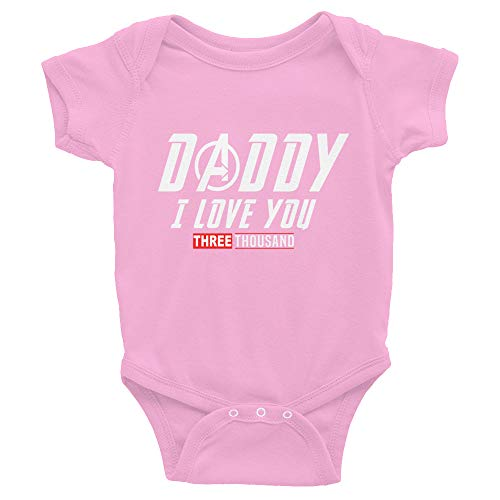 Daddy I Love You Three Thousand Baby Bodysuits Gift for Father's Day