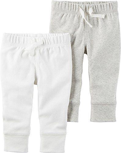 Carter's Baby 2-Pack Pants Set Newborn,White