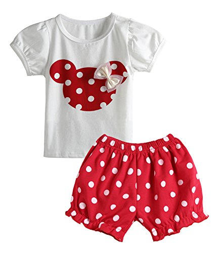Cute Toddler Baby Girls Clothes Set Long Sleeve T-Shirt and Pants Kids