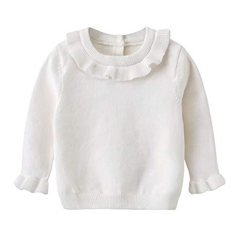 Auro Mesa Baby Girl Winter Clothes,White Sweater