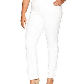 NYDJ Women's Plus Size Marilyn Straight Leg Jean