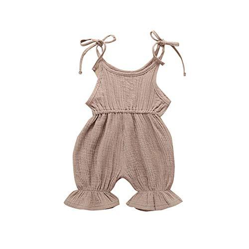 Hopeful Infant Toddler Baby Girls Cotton Jumpsuit Romper Sleeveless