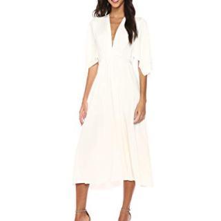 Rachel Pally Women's MIDI Caftan Dress, White, M